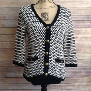 CAbi women's medium knit sweater cardigan blazer
